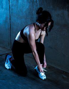 fit woman in workout gear