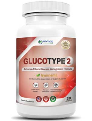 bottle of Gluco Type 2